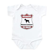 Schnauzer On Guard Infant Bodysuit