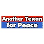 Texan for Peace Bumper Sticker