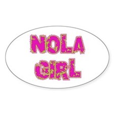 NOLA Girl Oval Decal