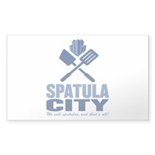 spatula city Rectangle Decal