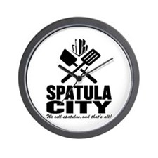 spatula city Wall Clock