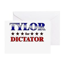 TYLOR for dictator Greeting Card