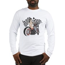 Pin Up Girl On Chopper Long Sleeve T-Shirt