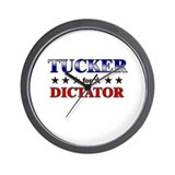 TUCKER for dictator Wall Clock