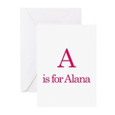 A is for Alana Greeting Cards (Pk of 10)