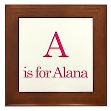 A is for Alana Framed Tile