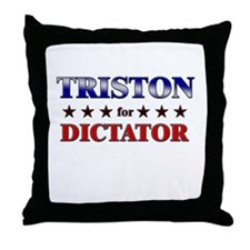 TRISTON for dictator Throw Pillow