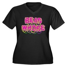 Bead Whore Women's Plus Size V-Neck Dark T-Shirt