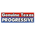 Texas Progressive Bumper Sticker
