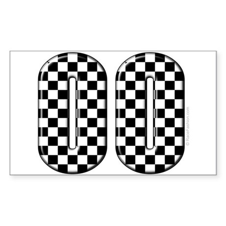 Race Car #00 Rectangle Sticker