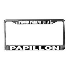 Proud Parent of a Papillon License Plate Frame