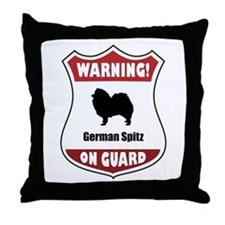 Spitz On Guard Throw Pillow