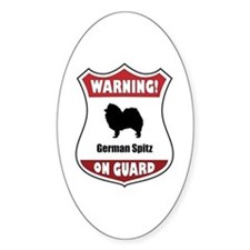 Spitz On Guard Oval Decal