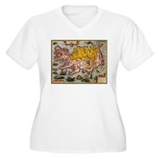 """Iceland Map"" T-Shirt"