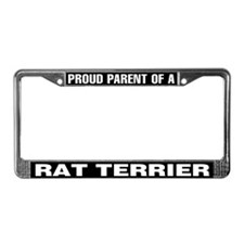 Proud Parent of a Rat Terrier License Plate Frame