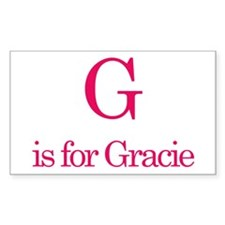 G is for Gracie Rectangle Decal