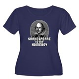 Shakespeare is my Homeboy Women's Plus Size Scoop