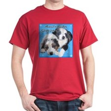 Blue Merle Aussie Pups T-Shirt