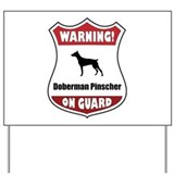Warning doberman Yard Signs