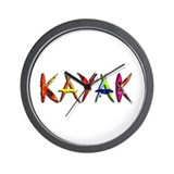 Kayak Graffiti Wall Clock