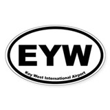 Key West International Airport Oval Decal