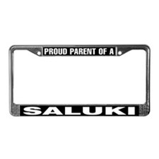 Proud Parent of a Saluki License Plate Frame