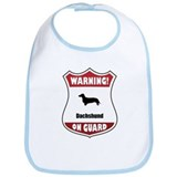 Dachshund On Guard Bib