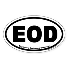 Explosive Ordnance Disposal EOD Oval Decal