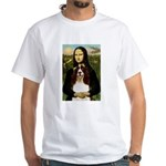 Mona/ English Springer White T-Shirt