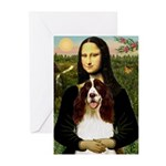 Mona/ English Springer Greeting Cards (Pk of 10)