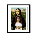 Mona/ English Springer Framed Panel Print