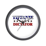 TIFFANIE for dictator Wall Clock
