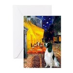 Cafe / Eng Springer Greeting Cards (Pk of 10)