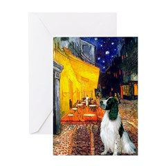 Cafe / Eng Springer Greeting Card