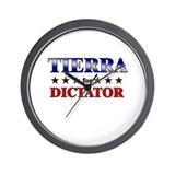 TIERRA for dictator Wall Clock