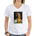 Fairies / Eng Springer Women's V-Neck T-Shirt