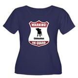 Chihuahua On Guard Women's Plus Size Scoop Neck Da