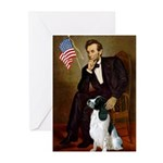 Lincoln / Eng Springer Greeting Cards (Pk of 20)