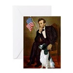 Lincoln / Eng Springer Greeting Card