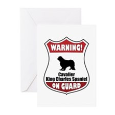 Cavalier On Guard Greeting Cards (Pk of 10)