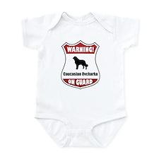 Caucasian On Guard Infant Bodysuit