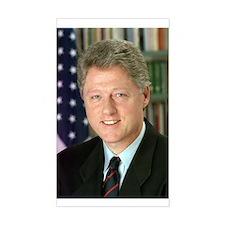 President Clinton Rectangle Decal