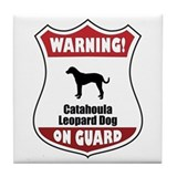 Catahoula On Guard Tile Coaster