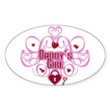 Pink - Daddy's Girl Oval Decal