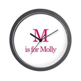 M is for Molly Wall Clock