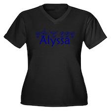 Alyssa -bl Women's Plus Size V-Neck Dark T-Shirt