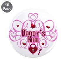 "Pink - Daddy's Girl 3.5"" Button (10 pack)"