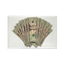 Dollar Bill Spread Rectangle Magnet (10 pack)