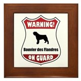 Bouvier On Guard Framed Tile