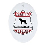 Bouvier On Guard Oval Ornament